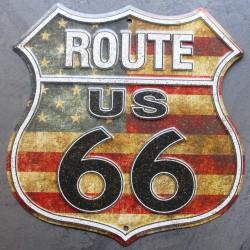 plaque blason  route 66 USA...
