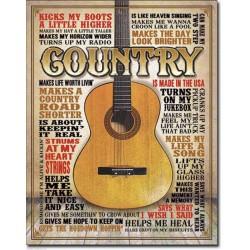 plaque country music avec...