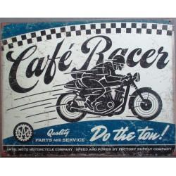 plaque cafe racer bleu moto...
