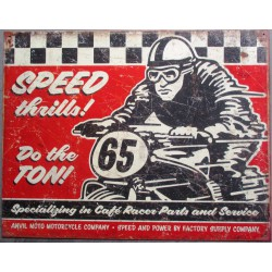plaque speed moto rouge et...