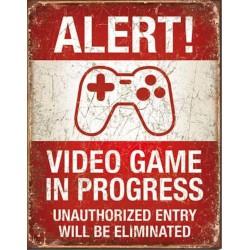 plaque alert video game in...