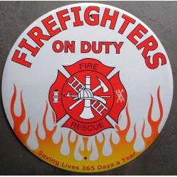 plaque pompier ronde...