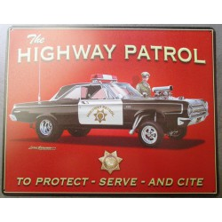 plaque police highway...