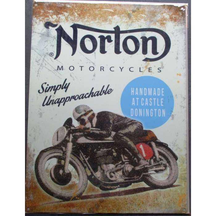 superbe plaque publicitaire en métal peint ,la tole est pré-percée pour une  pose facile ! dimension  40  30cm modele   plaque norton motorcycle ,  simply ... 4119cb41cc2