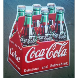 plaque coca cola pack rare...