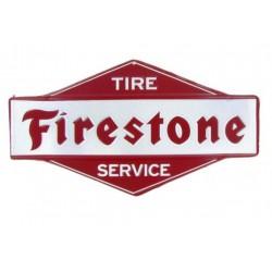 plaque firestone en relief...