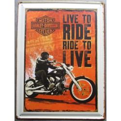 plaque live to ride ride to...