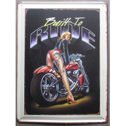 plaque pin up moto built to...