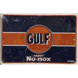 plaque gulf no nox bleu...