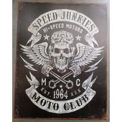 plaque speed junkles moto...