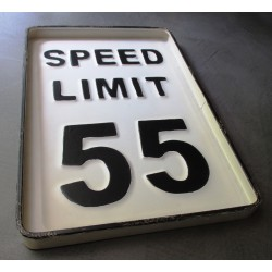 plaque speed limit 55...