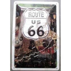 plaque route 66 tracé de la...