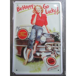 plaque pin up lucky strike...
