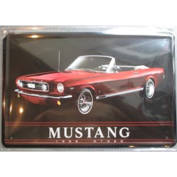 plaque ford mustang cab...