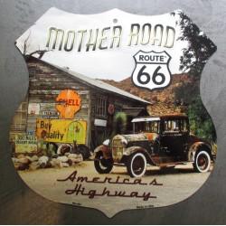 plaque blason route 66 hot...