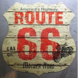 plaque blason route 66 sur...