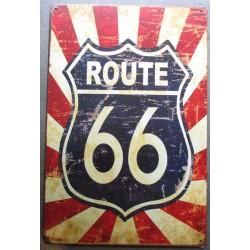 plaque route 66 blason sur...