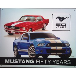 plaque ford mustang 50...