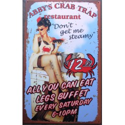 plaque pin up abby's crab...