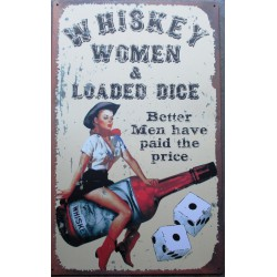 plaque pin up whiskey woman...
