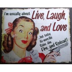 plaque pin up live laugh &...