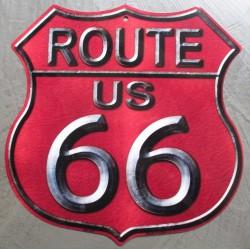 plaque blason route 66...