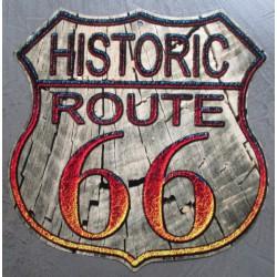 plaque blason route 66 bois...