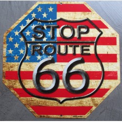 plaque route 66 usa stop...