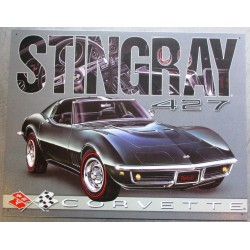 plaque corvette sting ray...