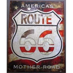 plaque route 66 viellit...