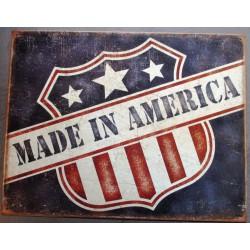 plaque made america blason...