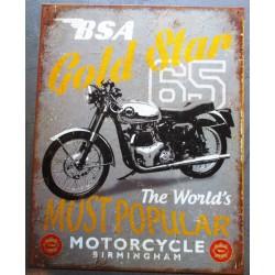 plaque BSA gold star 1965...