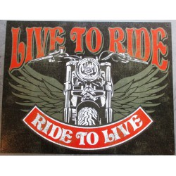 plaque live to ride , ride...