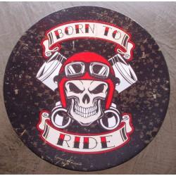 plaque crane biker et...