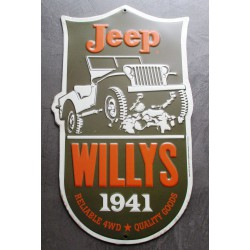 plaque jeep  willys 1941 en...