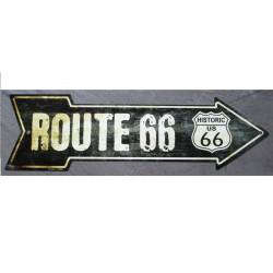 plaque fleche route 66 noir...