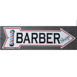 plaque fleche barber shop...