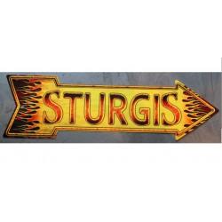 plaque fleche sturgis a...