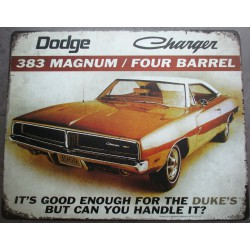 plaque dodge charger 383...
