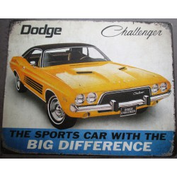 plaque dodge challenger...