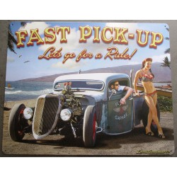 plaque east pick up hot rod...