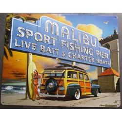 plaque woody malibu surf...