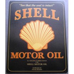 plaque shell motor oil...