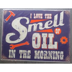 plaque i love smell oil in...