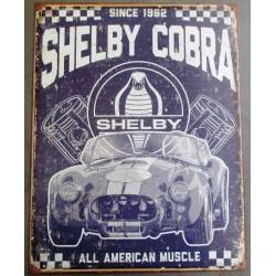 plaque shelby cobra viellit...