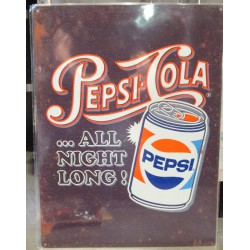 plaque pepsi cola canette...