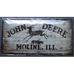 plaque logo john deere look...
