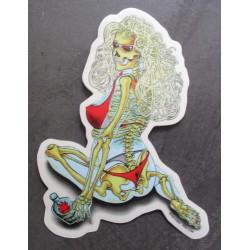 sticker squelette blonde...