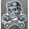 sticker crane aviateur piston croise autocollant rockabilly