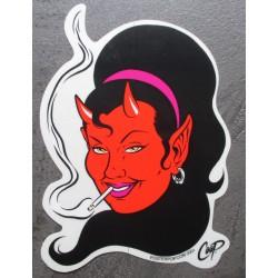sticker diablesse qui fume...